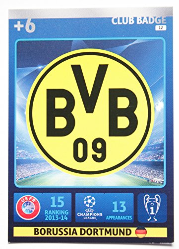 PANINI ADRENALYN 14/15 UEFA Champions League Card > Team Logo Borussia Dortmund > Number 12