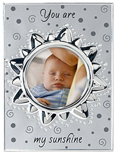 "Malden International Designs Baby Memories ""You are my Sunshine"" Two Tone Silver Picture Frame to Hold 4 by 4-Inch Photo - 1"
