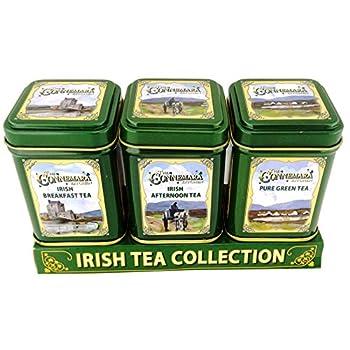 The Connemara Kitchen Set Of Tin Tea, Breakfast,Afternoon & Green Tea