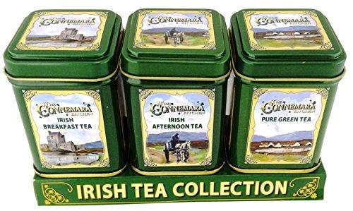 The Connemara Kitchen Set Of Tin Tea, Breakfast,Afternoon & Green Tea 0