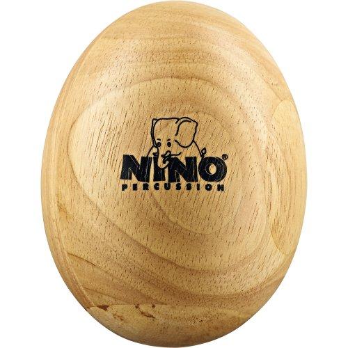 Nino Percussion NINO564 Large Wood Egg Shaker, Natural Finish