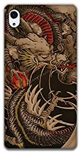 The Racoon Lean dragon hard plastic printed back case / cover for Sony Xperia Z2