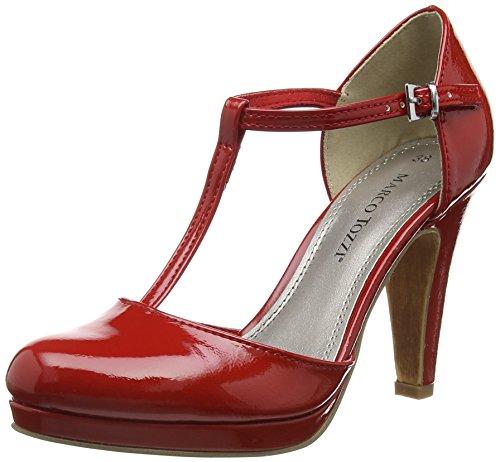 Marco Tozzi24416 - Scarpe con Tacco Donna , Rosso (Rot (CHILI 533)), 39