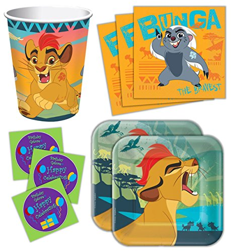 Lion Guard Birthday Party Supplies Set Plates Napkins Cups Kit for 16