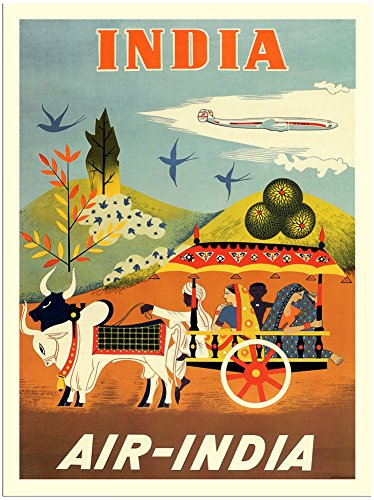 air-india-travel-poster-1950s-30x40cm-art-print