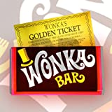 Willy wonka bar with golden ticket plus