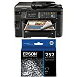 Epson WorkForce WF-3640 Wireless Color All-in-One Inkjet Printer with Scanner and Copier and Epson T252120 DURABrite Ultra Standard-Capacity Ink Cartridge, Black