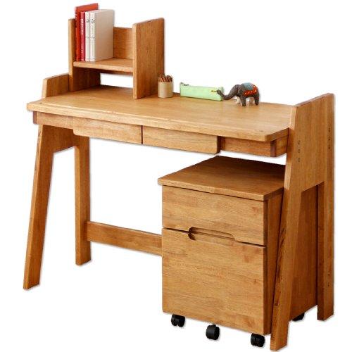 ラバーウッド学習机 無垢材 天然木 エコ塗装 日本製 大川家具 低ホル 3点セット 1811000400