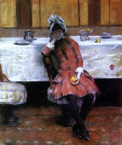 "William Merritt Chase Sketch On A Young Girl On Ocean Steamer - 20"" X 25"" Premium Canvas Print Gallery Wrapped front-402199"