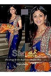 Designer BLUE CHIFFON,ROWSILK, Bollywood Replica Saree Sari