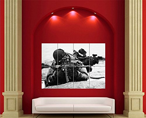 SNIPER GIANT WALL ART NEW POSTER UNIQUE PRINT PICTURE MOSAIC X2756 (Foto Sniper compare prices)