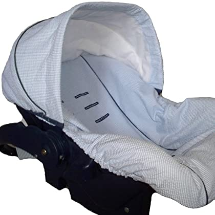 Infant Car Seat Cover Baby Car Seat Cover Slip Cover- Blue ...