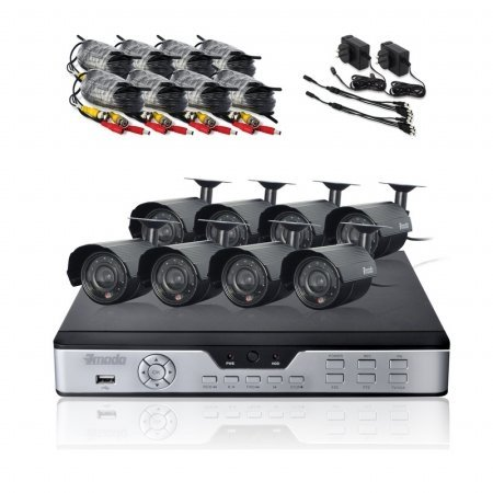 Best Price Zmodo PKD-DK0865-500GB H.264 Internet & 3G Phone Accessible 8-Channel DVR with 8 Nigh...