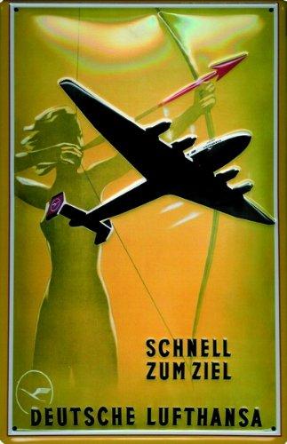 schild-alu-artdeco-deutsche-lufthansa-schnell-300x200mm