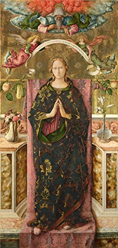 'Carlo Crivelli The Immaculate Conception ' Oil Painting, 10 X 21 Inch / 25 X 53 Cm ,printed On Perfect