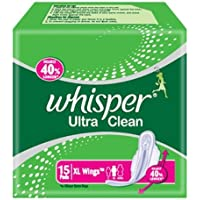 Whisper Ultra Clean - XL Wings (15 Pads) - B01CJW81AW