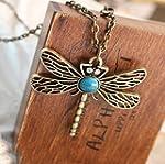 BUYINHOUSE Retro Vintage Dragonfly Ne...