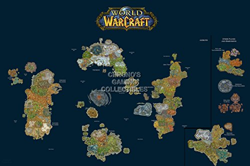 CGC Huge Poster - World of Warcraft World Map PC - EXT185 (24 x 36 (61cm x 91.5cm)) by Custom Prints