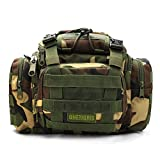 OneTigris Upgraded Version Tactical 3 Ways Modular Deployment Compact Utility Carry Bag MOLLE Case Heavy Duty with Shoulder Strap