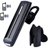 [2016 Version] Avantree SUPERB SOUND Quality Bluetooth Headset With Car Holder | Support 2 Phones | Comfortable...
