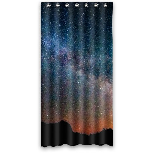 "Anhome Beautiful Sunset Sky Colorful With The Star Shower Curtain 36""X 72"" front-638339"