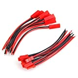 10 Pairs 100mm JST 2 Pin Connector Plug Lead Wire for Rc Li-Po Battery Discharge Esc Bec Board Line Male & Female Wire 22AWG