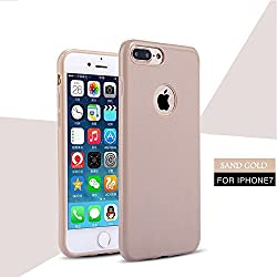 iPhone 7 Case, Laprite Slim Premium Matte Design Anti Dropping TPU Protection Back Cover for iPhone 7 ( Plain, Sand Gold )