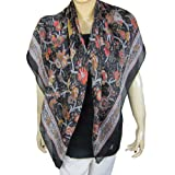 Indian clothing Online Silk Evening Scarf Fashion From India 43 X 43 Inches
