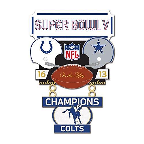 Indianapolis Colts Super Bowl Xli Banner Pin