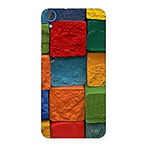 Stylish Color Cubes Multicolor Back Case Cover for HTC Desire 820s