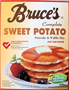 Bruce's Complete Sweet Potato Pancake and Waffle Mix 24oz Box (Pack of 3)