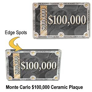 monte carlo ceramic poker chip plaque