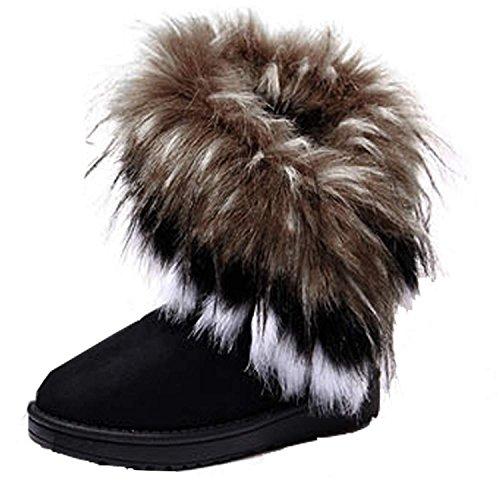 minetom-femme-hiver-neige-cheville-flat-boots-chaudes-fourrure-chaussures-noir-eu-39-