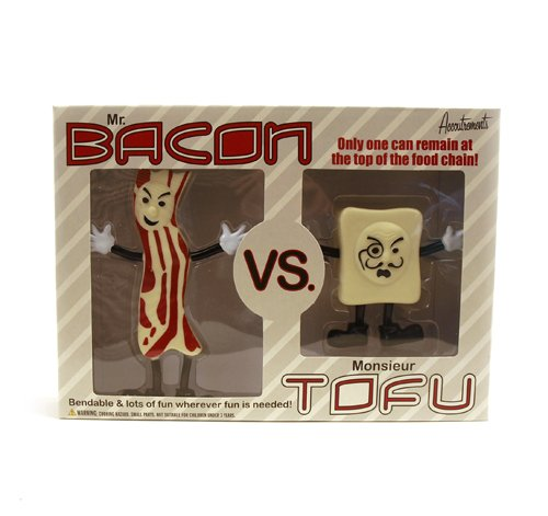 Accoutrements Mr.Bacon Vs. Monsieur Tofu Action
