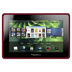 Amzer Silicone Skin Jelly Case for BlackBerry PlayBook - 1 Pack - Case - Maroon Red