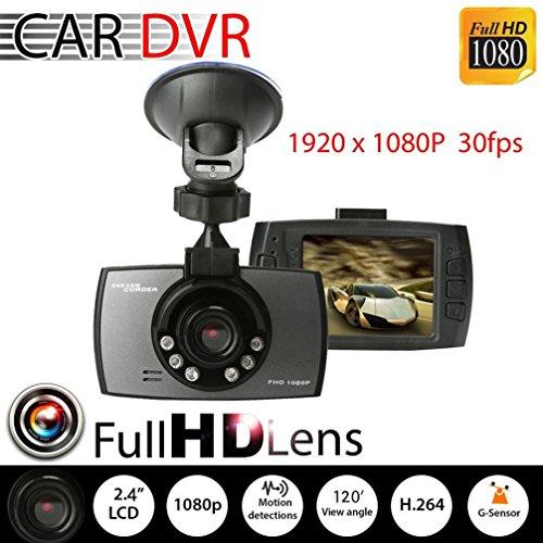 Car DVR,Baomabao 1080P Car DVR Vehicle Camera Video Recorder Dash Cam Night Vision HD 2.4 LCD (Car Camera Recorder Battery 1080 compare prices)