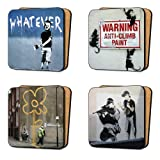 Banksy Art printing Coasters Set (4 Coasters) Dinnerware, Furniture - Set 3