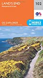 OS Explorer Map (102) Land's End, Penzance and St Ives