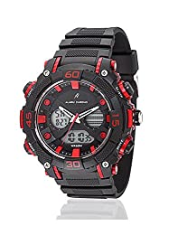 Yepme Mens Analog Digital Watch - Black/Red