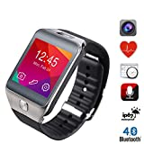 Vensmile® Smart Watch 1.54 Inch TFT Screen with Bluetooth 4.0 / 2.0mp Camera / Heart Rate Monitor / Pedometer (Silver)