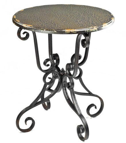 Safavieh American Home Collection Chartreuse Antique Black Iron Side Table