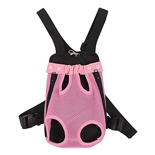 BonAchat Outdoor Pet Dog Carrier Portable Dog Backpack Dog Cat Harness Durable Dacron Cotton Breathable Mesh Pet Travel Front Backpack Carrier Bag