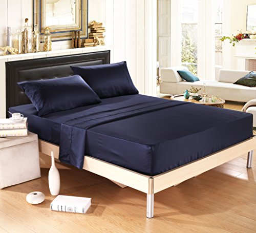 delboutree-silky-soft-solid-matte-satin-bed-sheet-sets-shiny-freedeep-pocket-queen-4-pieces-navy