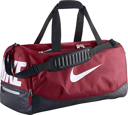 New Nike Team Training Max Air Medium Duffel Bag Gym Red/Black/White