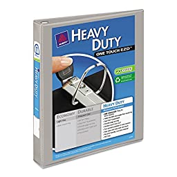 Avery Nonstick Heavy-Duty EZD Reference View Binder, 1in Capacity, Gray