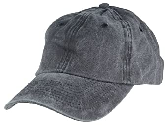 Mens Pigment Dyed Washed Cotton Cap - Adjustable Hat (47 Styles Colors) 89bb5bb6582d