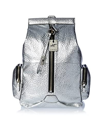 Kenneth Cole New York Women's Ave B Sling Backpack, Silver