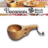【SPICE】バカンス カップL Birch(バーチ)天然素材で出来た食器!屋外でも屋内でも◎ 裏面に小さな四つ葉の焼き印
