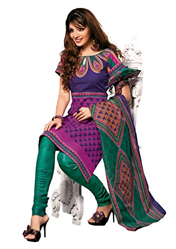 Vaamsi Womens Cotton Unstitched Salwar Suit Dress Material (1006 _Pink _Free Size)