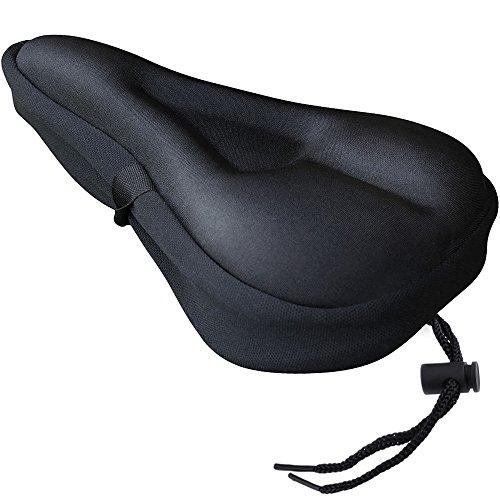 Zacro Gelüberzug für den Fahrradsitz Sattelbezüge mit wasserdichter Sattelschutz Sports Fahrradsattel Überzug Perfekte für Mountainbike-Sitze und Rennradsättel schwarz